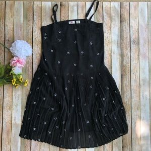 Levi's black pleated dress